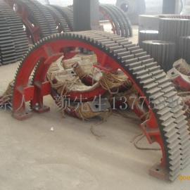 142齿18模活性炭转炉烘干机大齿轮烘干机滚圈托轮