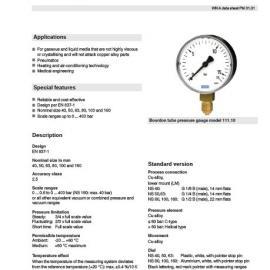 半钢耐震压力表