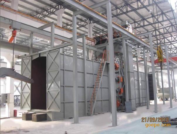 供应久昌牌钢结构件通过式抛丸机
