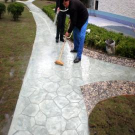 艺术地坪-压模地坪-彩色装饰路面