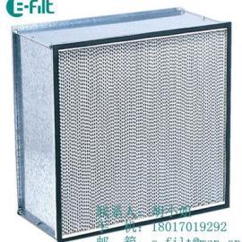 标准型高效有隔板空气过滤器厂家