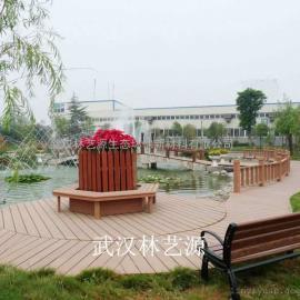塑木栏杆、塑木垃圾桶、塑木景观房、塑木地板 塑木花带