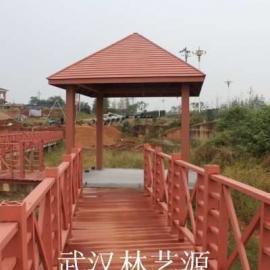 武汉塑木栅栏,环保围栏,园林椅,塑木垃圾桶,湖南塑木