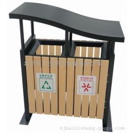 木条垃圾桶 钢木垃圾桶 分类垃圾桶 公园垃圾桶