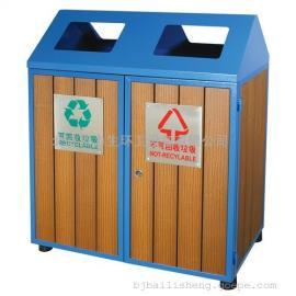 木条垃圾桶 小区物业垃圾桶 分类垃圾桶