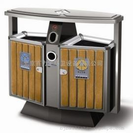 钢木垃圾桶 木条垃圾桶 分类垃圾桶 户外垃圾桶