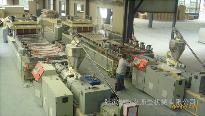 PVC木塑门板、墙板生产线设备,张家港最好的木塑门板设备厂家
