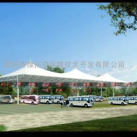 南京停车棚、钢膜车棚、停车库出入口张拉膜