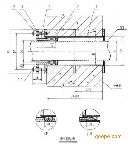 柔性防水套管生產廠家y消防水池專用柔性防水套管圖片