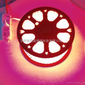 直接接220V高压灯条 红光高压灯条安装防水
