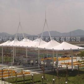 淮安市体育场钢膜工程、主席台张拉膜