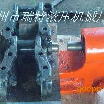 瑞特100吨铸铁履带翻新机/链轨拆装机操作图