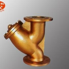 GL41W-16T黄铜法兰Y型过滤器,黄铜Y型法兰过滤器