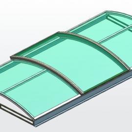 圆拱型上开式电动采光排烟天窗