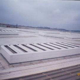 屋顶薄型通风气楼