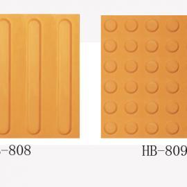 广东 深圳超强耐磨橡胶盲道地板砖 PVC橡胶警示地砖