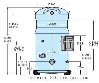 产品范围包括钎焊连接的单个压缩机,螺母锁紧角阀连接的单个压缩机和图片