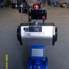 气动活塞式凸轮扰曲调节切断阀HB2810