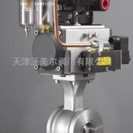气动活塞式V型调节切断阀HB2610
