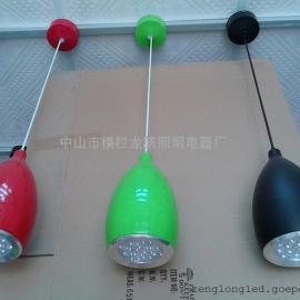南瓜型LED吊线灯 室内装饰灯 客厅LED餐吊灯
