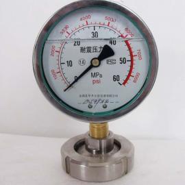 耐震充油隔膜压力表