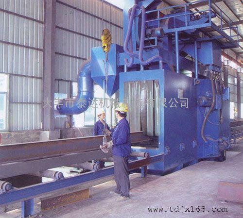 产品展示 抛丸机 通过式抛丸机 > 钢材表面除锈抛丸机   钢结构焊件,h