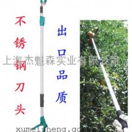 台湾鹤龟利器不锈钢高空采果剪1830
