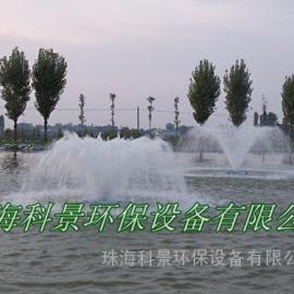 园林景观水处理无管道提水喷泉曝气机