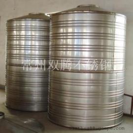 促销双腾1吨304不锈钢圆柱形保温水箱宾馆专用热水罐