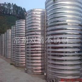 批发双腾5吨304不锈钢圆柱形保温水箱宾馆浴室专用热水罐