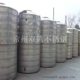 批发双腾6吨304不锈钢圆柱形保温水箱宾馆浴室专用热水罐