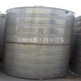 批发9吨304不锈钢圆柱形冷水箱酒店浴室专用储水罐