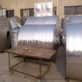 特价8吨304不锈钢圆柱形冷水箱酒店浴室专用储水罐