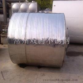 促销5吨304不锈钢圆柱形冷水箱酒店浴室专用储水罐