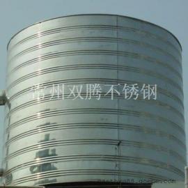 促销双腾10吨304不锈钢圆柱形保温水箱宾馆浴室专用热水罐