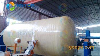 工作原理 玻璃钢化粪池是一种利用沉淀和厌氧