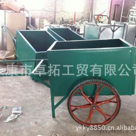 不锈钢垃圾车 手推式垃圾车 两轮手推式垃圾车