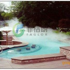游泳池温泉人工湖人造雾 度假山庄酒店别墅小区人工造雾