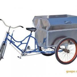 武汉小区三轮垃圾车,物业保洁车,三轮不锈钢垃圾车