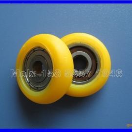 【HN-523R】黄色塑料轴承滑轮