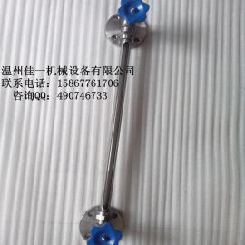 不锈钢水箱专用法兰式玻璃管液位计