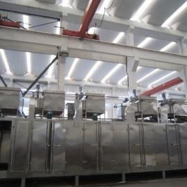 脱水蔬菜包菜片多节网带式干燥机组、苹果片带式烘干机DW3-1.6-10
