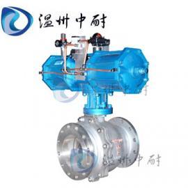 Q641F气动不锈钢球阀,气动球阀,软密封球阀