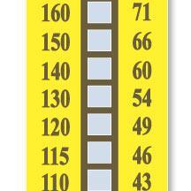 美国OMEGA 10格不可逆温度标签|TL-10示温纸