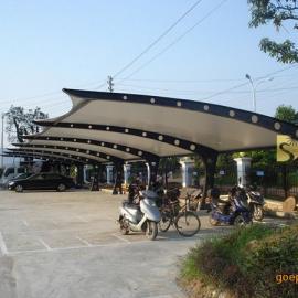 福建膜结构景观棚 福州膜结构车棚 福州膜结构自行车棚