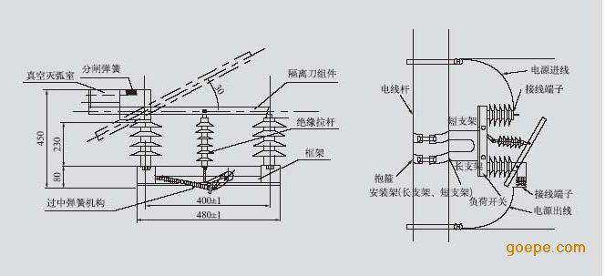 控制元件 负荷开关 乐清市东开电气有限公司 产品展示 高压真空断路器