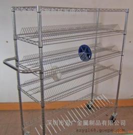 镀铬线网货架【防静电置物架】SMT物料架