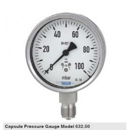 wika压力表EN837-3制作标准 wika膜盒压力表