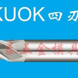 4F美国KUOK钴高速钢平底铣刀