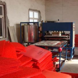 双色宝丽美地垫生产线 pvc镂空喷丝地垫生产线